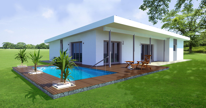 energiehome bungalow 157. Black Bedroom Furniture Sets. Home Design Ideas